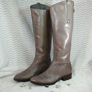 EUC Sam Edelman Leather Grey Tall Boots